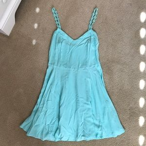 Aeropostale Blue Spring Dress with Flower Straps